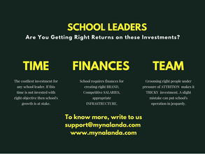 School Leaders: Understand Your Investments
